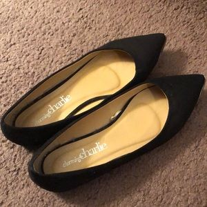 Charming Charlie pointed black flats